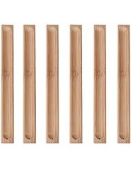 Granmp 竹製香炉ホルダー お香立て 6個パック 23cm/9.06インチ長