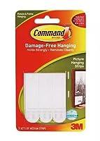 コマンドストリップDamage Free Hanging :画像,フレーム&ポスターHangingストリップMedium 3.0セット5個パック