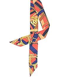 (ビグッド)Bigood おしゃれ ツイリー スカーフバッグ 鞄 アクセサリー カバン レディース ハンドル 細長 リボン スカーフ 持ち手 小物 プリント 赤