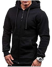 Sodossny-JP メンズ秋ロングスリーブライトジップアップ固体パーカースウェットシャツジャケット