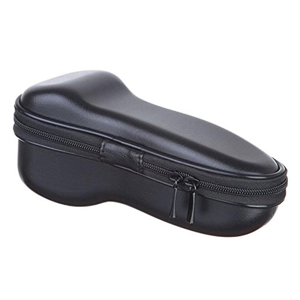 すき首緩めるSODIAL ユニバーサル 電気 シェーバー ジッパー付き 収納バッグ 旅行EVA保護 ショックプルーフ ケース ボックス ポーチ カバー カミソリ/シェーバーのバッグ