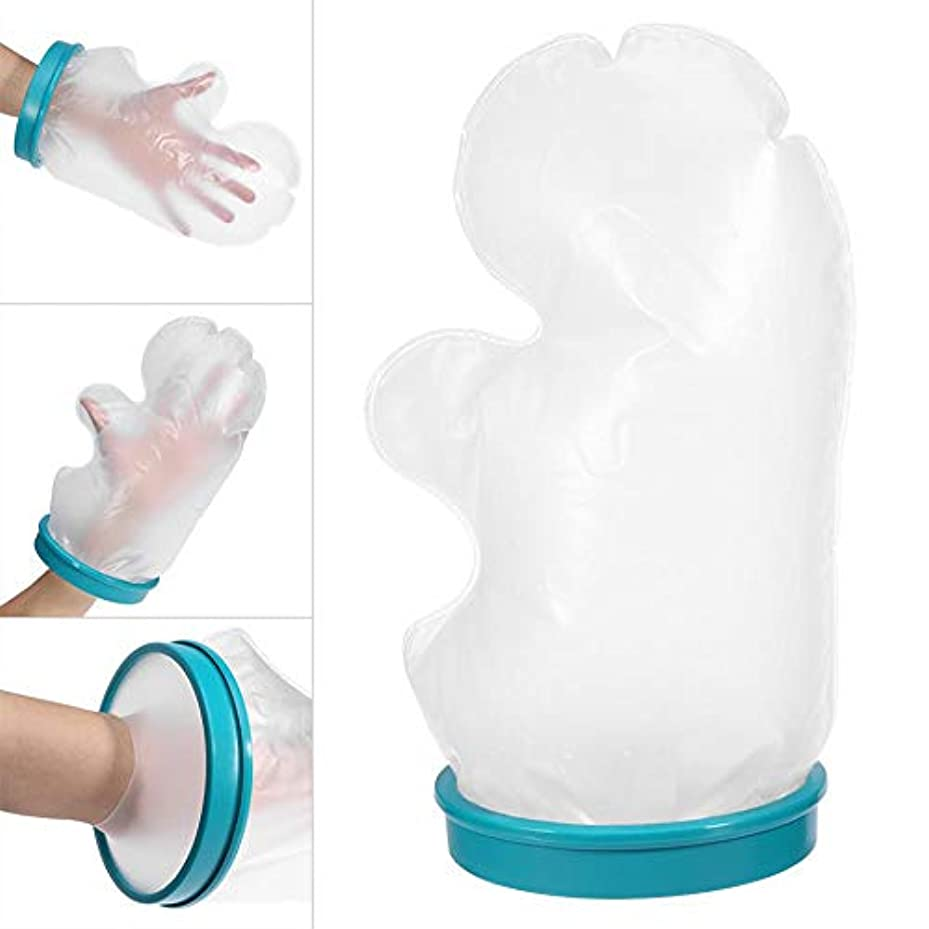 ツーリスト用心タンカーシャワー風呂用防水ハンドキャストカバー、折れた手、手首、指、手術、創傷、やけどへの再使用可能なリストキャストスリーブバッグ防水保護(14.96