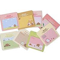 Cute Capybara シリーズ 付箋 自己粘着ノート カラフル 超粘着ノート 簡単ポスト 10パッド/パック