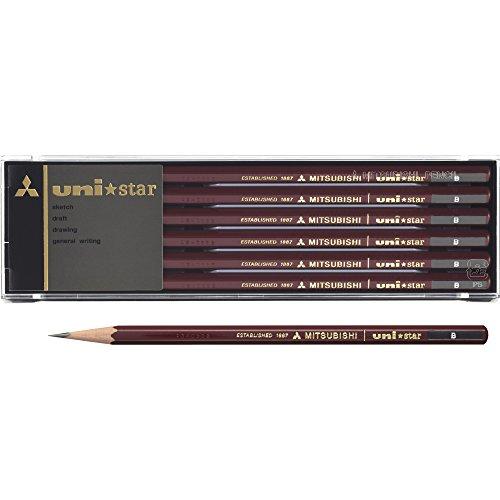 三菱鉛筆 鉛筆 ユニスター B 1ダース USB