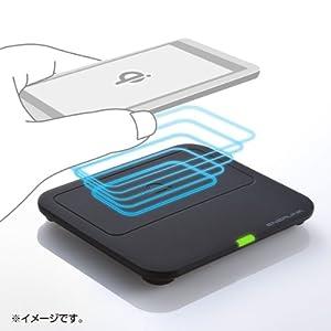 サンワサプライ ワイヤレス充電パッド(ブラック) WLC-PAD11BK