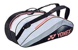 ヨネックス(YONEX) ラケットバッグ6(リュック付)(テニス6本用) ホワイト×コーラルピンク BAG1432R 333 BAG1432R