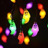 Goenn ハロウィン ランタン ストリングライトゴースト型 LED 10灯1.2m ハロウィン グッズ 電池式 部屋 玄関 飾り 装飾 クリスマスパーティ演出舞台 (マルチカラー)