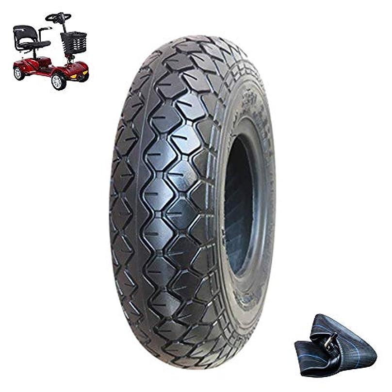 微生物学習独裁者電動スクータータイヤ、2.80 / 2.50-4アンチスキッドインナータイヤおよびアウタータイヤ、4層ドーム型耐摩耗性タイヤ、3/4ホイールスクータータイヤアクセサリーに最適