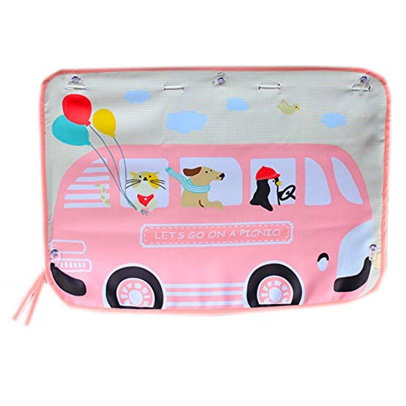 ガロン暴露博物館夏 車 シェード カーテン 日焼け止め 抗UV絶縁 吸盤 車の使用 カーテン サイドプル サイドウィンドウ (1個),Pink