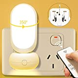 LED Night Lights Plug-in, Premium Baby Nursery Night Light for Adults, Kids, Bedside Lamp Plug Into Wall with Remote Control,
