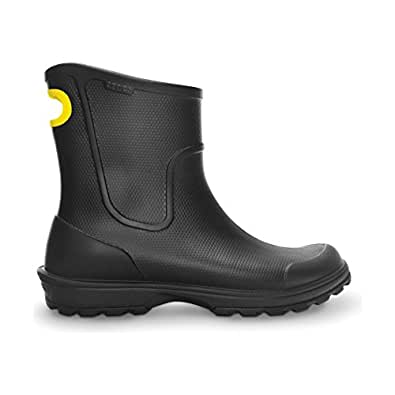 (クロックス) Crocs メンズ ウェリントン レインブーツ 紳士靴 長靴 アウトドア 男性用 (6 UK) (ブラック)