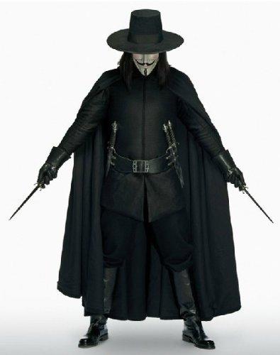 Vフォー・ヴェンデッタ V for Vendetta ハロウィン 仮装 グッズ 変装舞踏会 アダルト コスチューム  アニメ専線
