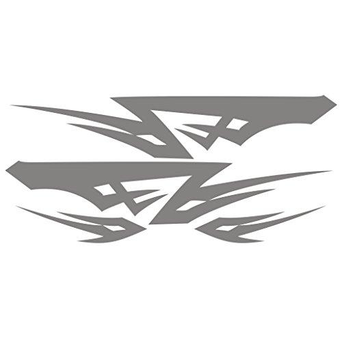 3041__S 車のステッカー部族ライン ( Silver)...