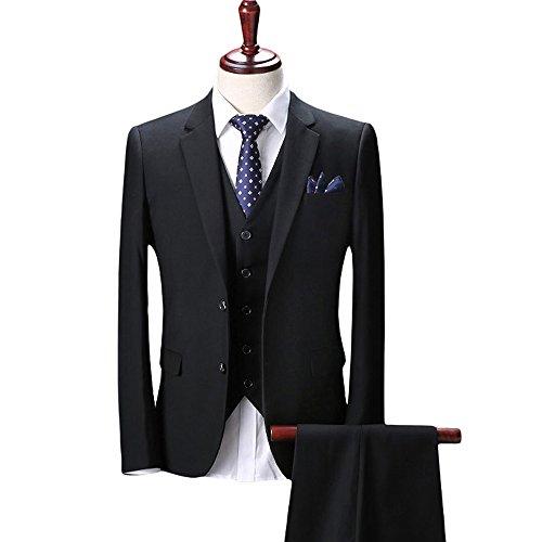 Wolfmen スタイリッシュスーツ 2つボタン 多色 スリムモデル パンツ 防シワ ジレベスト  スリーピース メンズスーツ ビジネス ビジネススーツ カジュアル ファッション チェック 柄 パーティ/結婚式 【S-3XL】