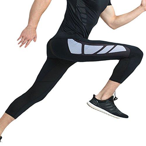 WEEN CHARM スポーツタイツ パワーストレッチ メンズ コンプレッションウェア ロングスパッツ 7分丈 オールシーズン 吸汗速乾 UVカット 運動用 メンズ ロングタイツ 加圧 スポーツインナーウエア 加圧パンツ