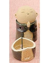 お地蔵様 香炉シリーズ 織部 お地蔵様 香炉 5.3寸(大) [H15.5cm] HANDMADE プレゼント ギフト 和食器 かわいい インテリア
