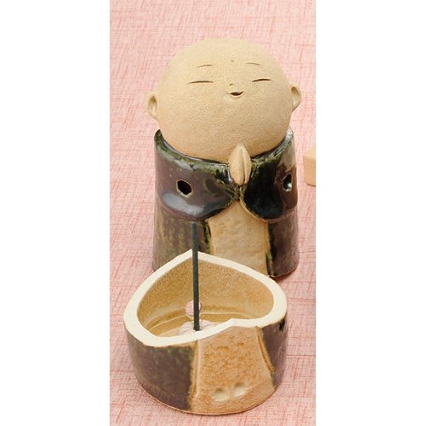 普通のバーマドまともなお地蔵様 香炉シリーズ 織部 お地蔵様 香炉 5.3寸(大) [H15.5cm] HANDMADE プレゼント ギフト 和食器 かわいい インテリア