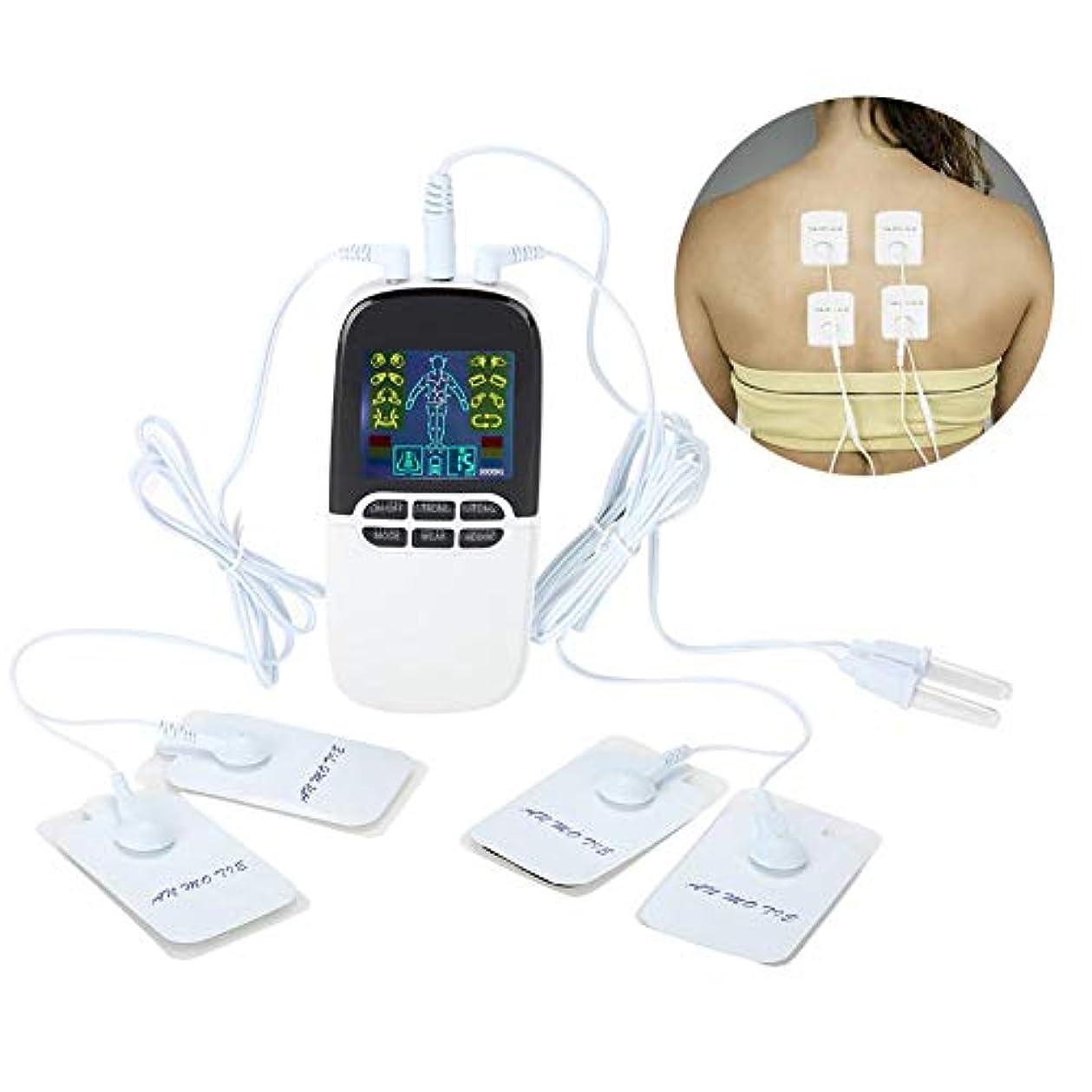 香り告白する単に携帯用子午線のマッサージャー、電子筋肉はヘルパーボディ痛みの軽減のデジタル脈拍装置ヘルスケア用具を緩めます