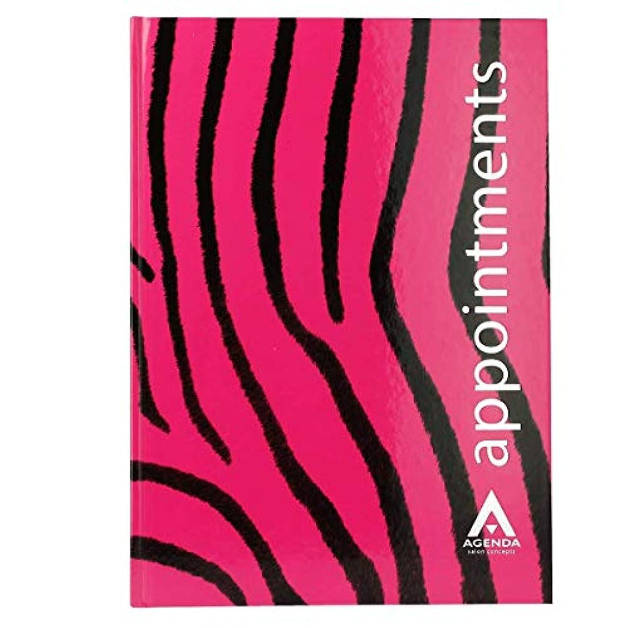 フェッチ創始者遮るアジェンダ サロンコンセプト 美容アポイントメントブック6アシスタントピンクゼブラ[海外直送品] [並行輸入品]