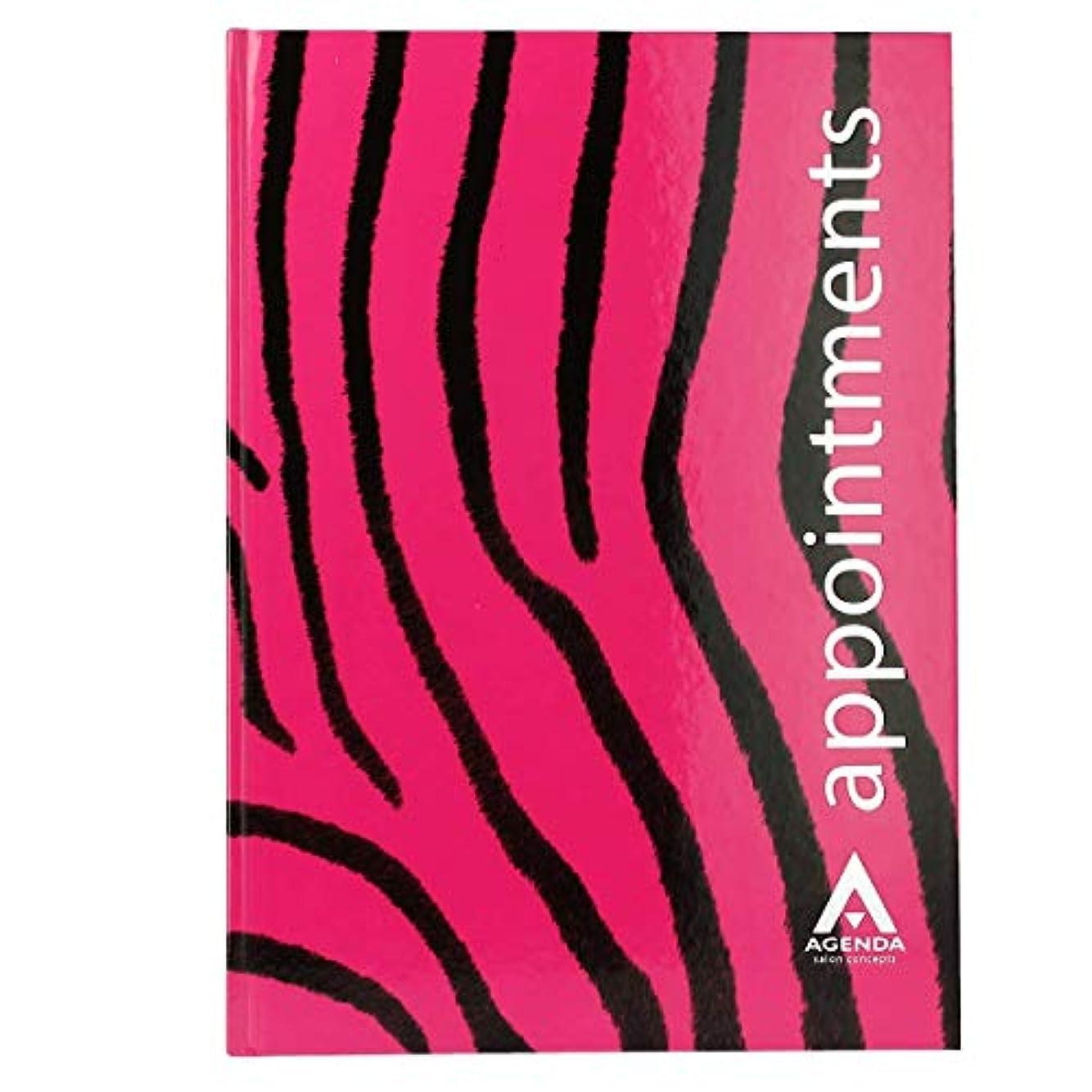 方向腹痛見物人アジェンダ サロンコンセプト 美容アポイントメントブック6アシスタントピンクゼブラ[海外直送品] [並行輸入品]