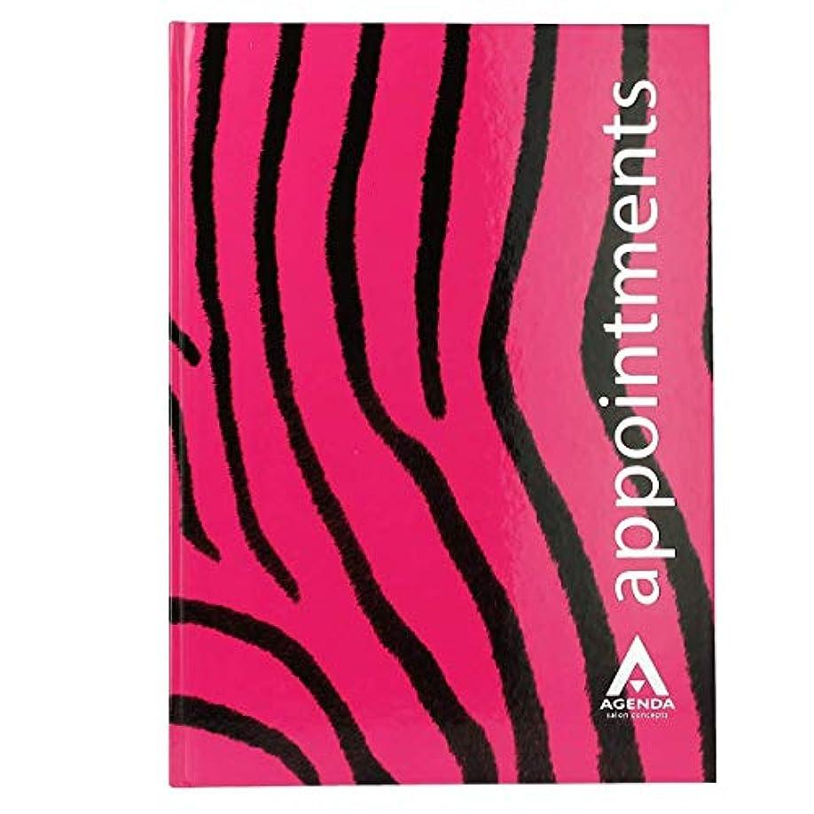 アジェンダ サロンコンセプト 美容アポイントメントブック6アシスタントピンクゼブラ[海外直送品] [並行輸入品]