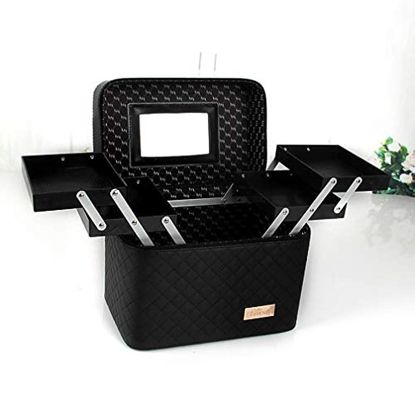 石灰岩餌皮肉な[スンル]メイクボックス コスメボックス 収納ボックス 化粧品収納 化粧ポーチ メイクポーチ おしゃれ 小物入れ 大容量 取っ手付 携帯に便利 機能的 自宅/出張/旅行/アウトドア/撮影 化粧箱