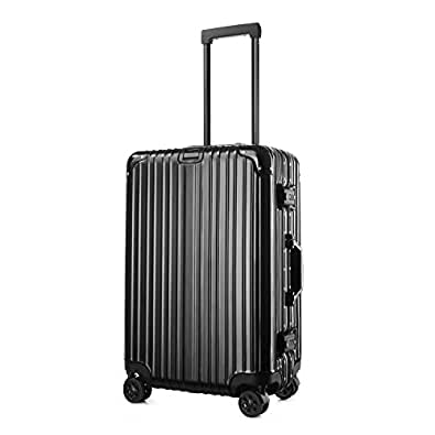 (アスボーグ)ASVOGUE スーツケース キャリーケース TSAロック 鏡面仕上げ アルミフレーム 旅行 軽量 ファスナーレス