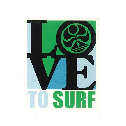 [해외]HIC 스티커 LOVE TO SURF 라부투사후/HIC sticker LOVE TO SURF Lovturf