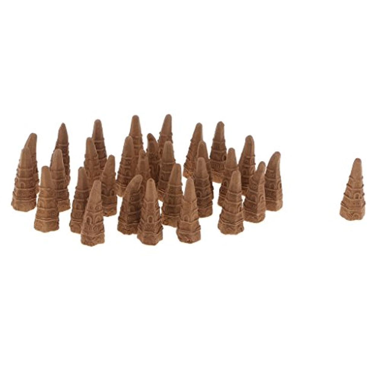 後方虎ペインティングボックス スモールタワーコーン型 逆流香り 仏教 サンダルウッド 全2種 - オーストラリアサンダルウッド