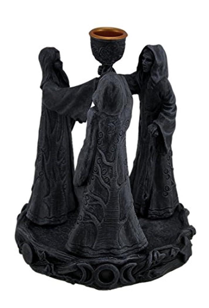 輝度ブルジョン引っ張る樹脂Incense Holders Maiden母Crone Cone Incense Burner Paganウィッカ5.5 X 7 X 5.5インチ海軍モデル# 2740