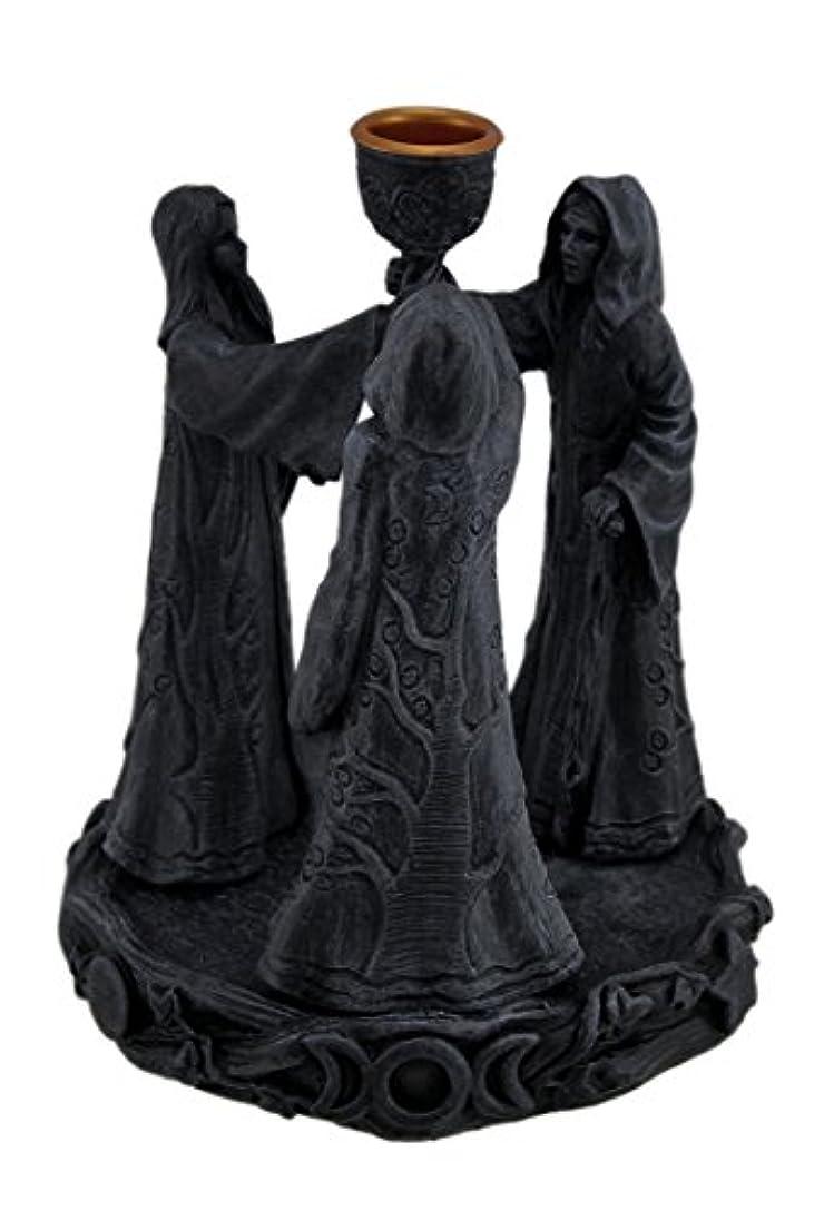 鎖タック廃棄する樹脂Incense Holders Maiden母Crone Cone Incense Burner Paganウィッカ5.5 X 7 X 5.5インチ海軍モデル# 2740