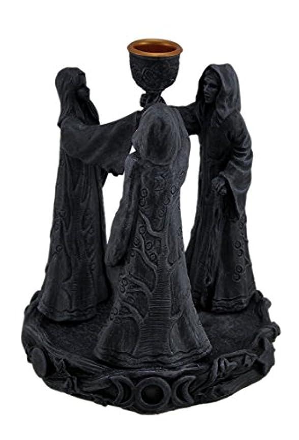 簡単に香ばしい攻撃的樹脂Incense Holders Maiden母Crone Cone Incense Burner Paganウィッカ5.5 X 7 X 5.5インチ海軍モデル# 2740