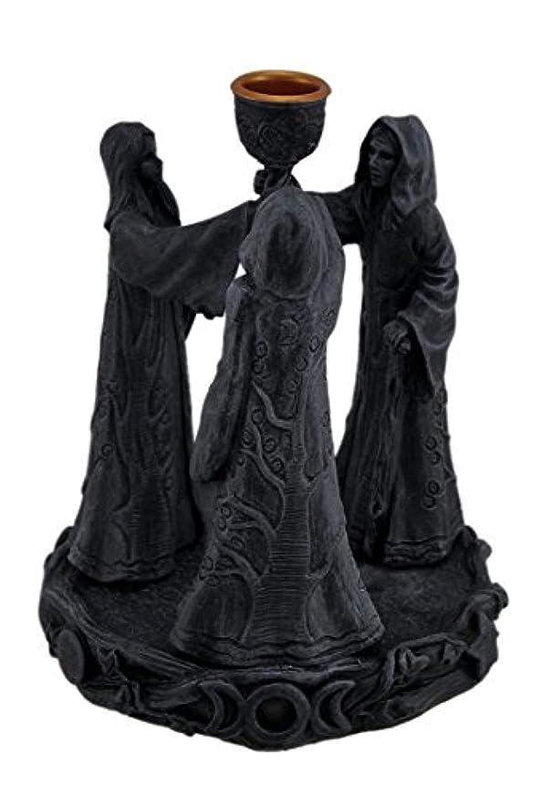 いつでもパリティ両方樹脂Incense Holders Maiden母Crone Cone Incense Burner Paganウィッカ5.5 X 7 X 5.5インチ海軍モデル# 2740
