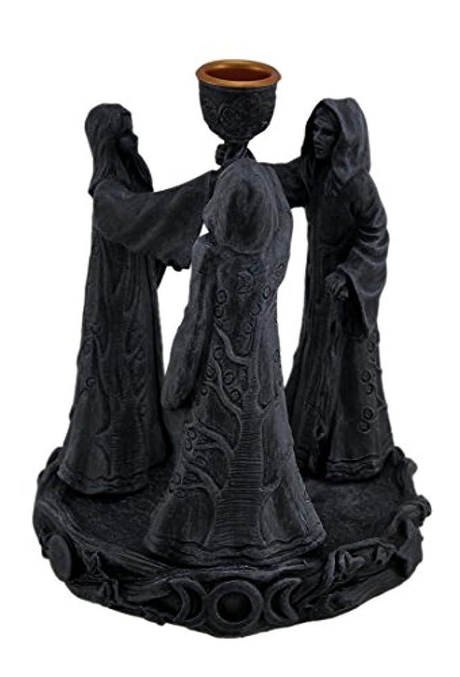 細断相談スモッグ樹脂Incense Holders Maiden母Crone Cone Incense Burner Paganウィッカ5.5 X 7 X 5.5インチ海軍モデル# 2740