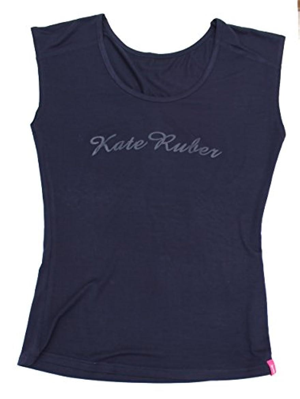 アメリカ分解するスポンサーKate Ruber (ケイトルーバー) ヨガTシャツ ネイビーLL-3L