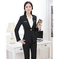 XuBa Autumn Winter Formal Pant Suits for Women Work Wear Suits Ladies Professional Office Uniform Design Trousers Sets S-4XL