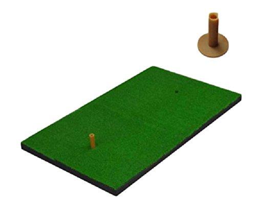 【SCGEHA】ゴルフ ショット用マット 練習用 分厚い 60cm×30cm 厚み 1cm 人工芝 ティー2種付き