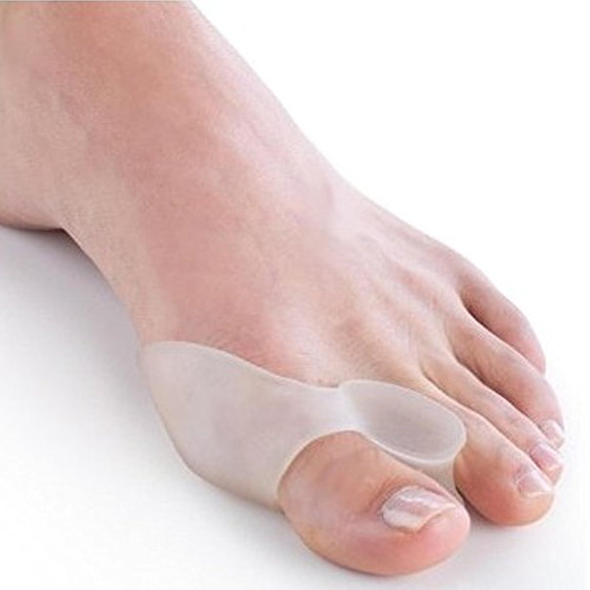 スロット試用耐久外反母趾 グッズ シリコンパッド 足指矯正 パッド 外反母趾サポーター 親指広げ フットケア 男女兼用 ワンーサイズ(1ペア2個入り)
