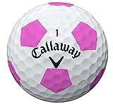 Callaway(キャロウェイ) クロムソフト トゥルービス TRUVIS 1ダース (12球入り) ホワイト/ピンク 2016年 US仕様