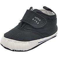 Weixinbuy Infant Baby Boy's Canvas Soft Sole Sneaker High Shoe