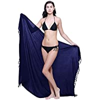 TC Womens Plus Size Beach Cover up Sarong Swimsuit Cover-up Many Solids Colors to Choose