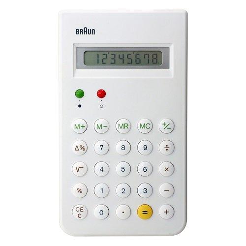 BRAUN ( ブラウン )「 Calculator ( 電卓 ) BNE001 」ホワイト BNE001WH