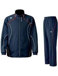 DESCENTE(デサント) メンズ トレーニング ジャケット?パンツ上下セット インクグレー×レッド DTM1910B-DTM1910PB-INR
