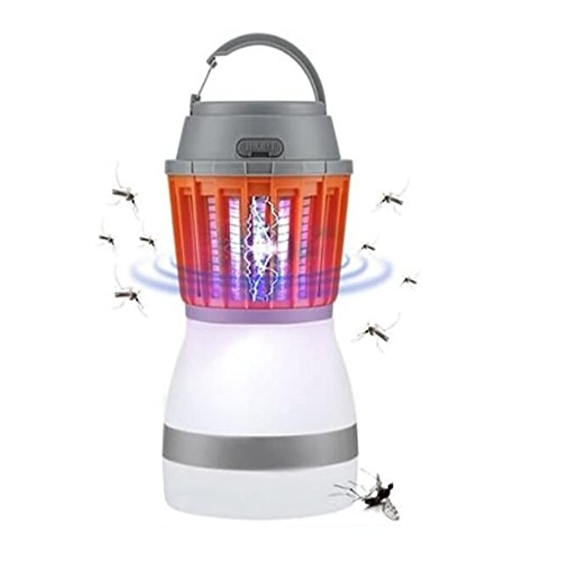 教育者木曜日環境保護主義者MR 多機能 1台2役 電撃殺虫器 ランタン LED ライト 蚊 害虫 誘蛾蚊取り器 誘虫灯 ハエ 取り USB充電式 MOSKILAN