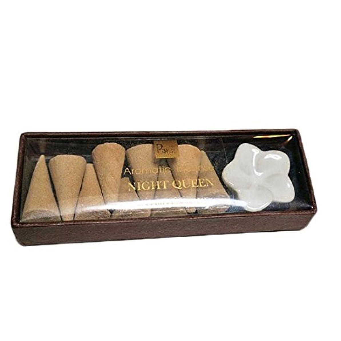 冷笑するくつろぐ倫理ナイトクイーン お香セット【トコパラス TOKO PARAS】バリ島 フランジパニの陶器のお香立て付き ナチュラルハンドメイドのお香