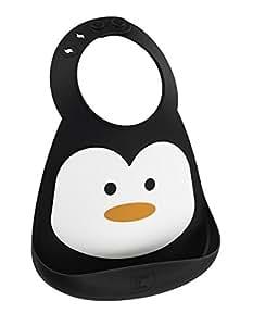 メイクマイデイ 油が落ちるシリコンビブ【日本正規品】食洗機で洗える シリコン100%のやわらかビブ 6ヵ月~3歳 BB112 ペンギン
