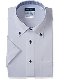 [ハルヤマ] i-Shirt 完全ノーアイロン 半袖 ドゥエボットーニ ボタンダウンアイシャツ M162180019 メンズ