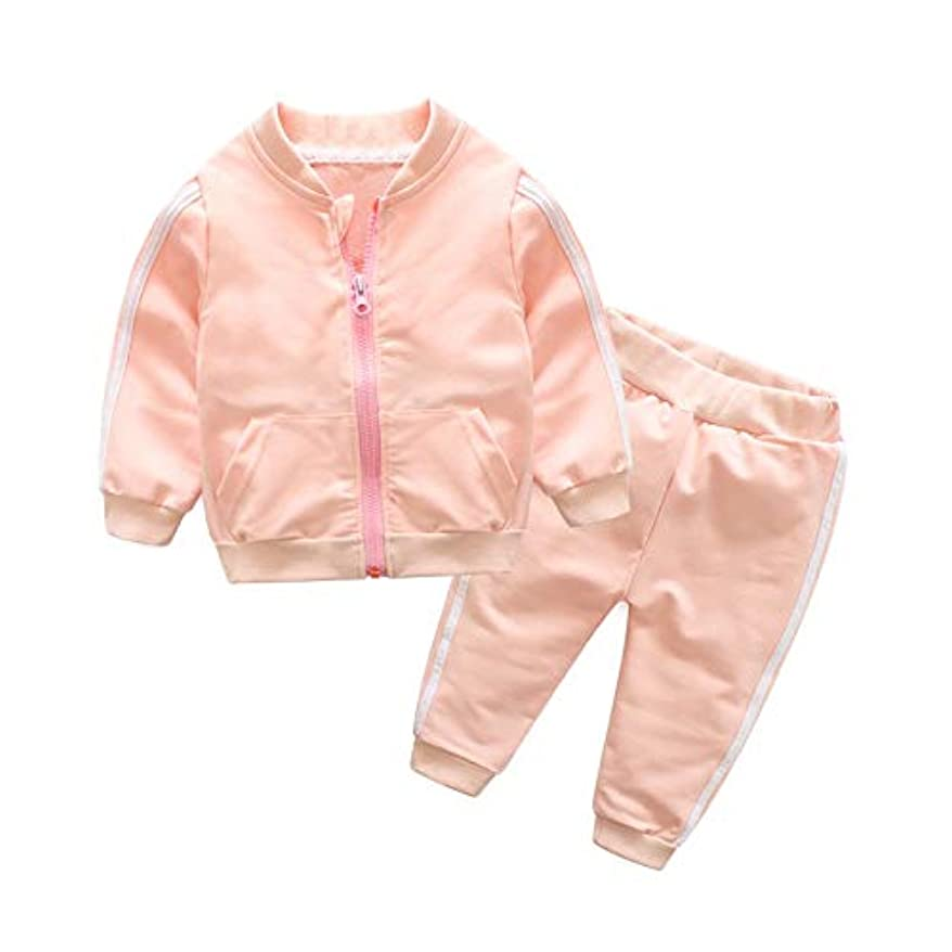 混乱させる縮約レクリエーション新しいです 女の赤ちゃん服、夏の男の赤ちゃん0-3ヶ月の女の赤ちゃんの服、長袖の服ジッパーコート+パンツ赤ちゃんの洋服女の子ボディギフト写真の摩耗のために 洋式 (Color : C, Kid Size : 3T)