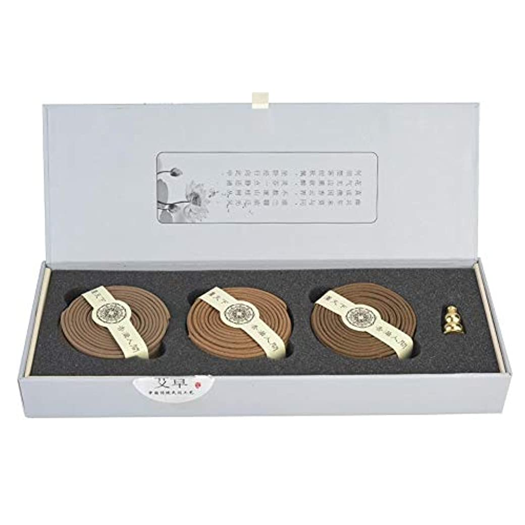 レザー漁師代表する4時間お香コイル 3種類の香り 天然アガーウッド サンダルウッド ワームウッド お香 マインドハッピー用