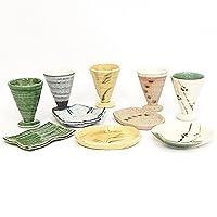 酒器セット フリーカップ5個と小皿5枚セット 美濃路 【箱入り】 ギフト 結婚祝い 引出物 内祝い 美濃焼